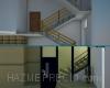 Aquí intentamos que se hagan una idea de nuestro proyecto viendo la obra en 3D. Con este sistema evitamos el montar el ascensor en el patio interior sin eliminar  del todo las barreras arquitectónicas. Pues las paradas serian entre planta tendríamos que subir o bajar escalones. Con este  sistema entramos a cota cero y salimos a nuestro rellano