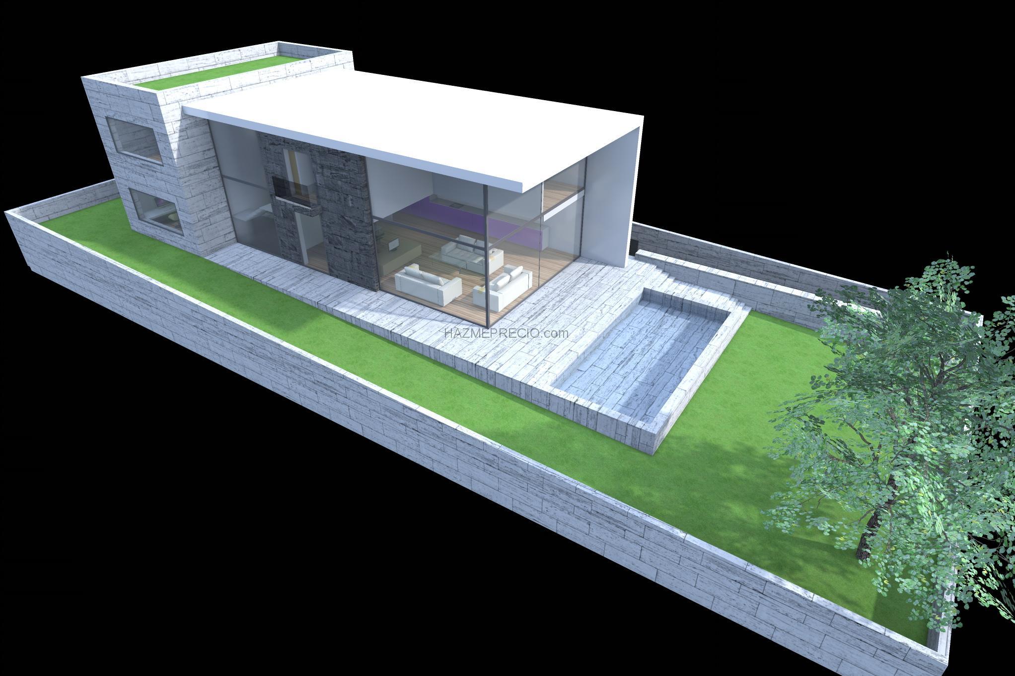Presupuesto para hacer proyecto de una casa unifamiliar de unos 120m2 vidreres girona 3 - Precio proyecto casa 120 m2 ...