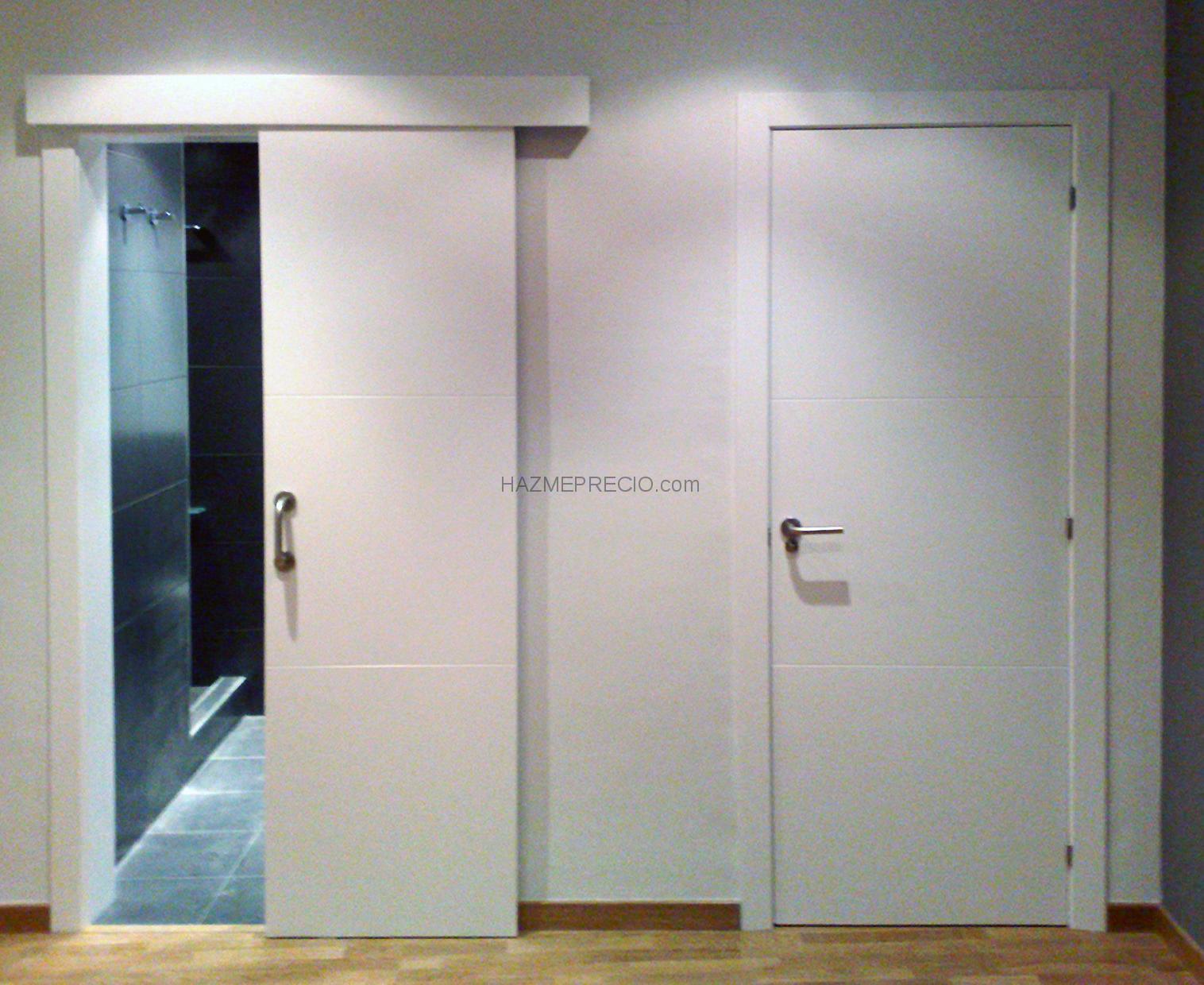 Puertas de fuelle para ba o for Precio puertas blancas