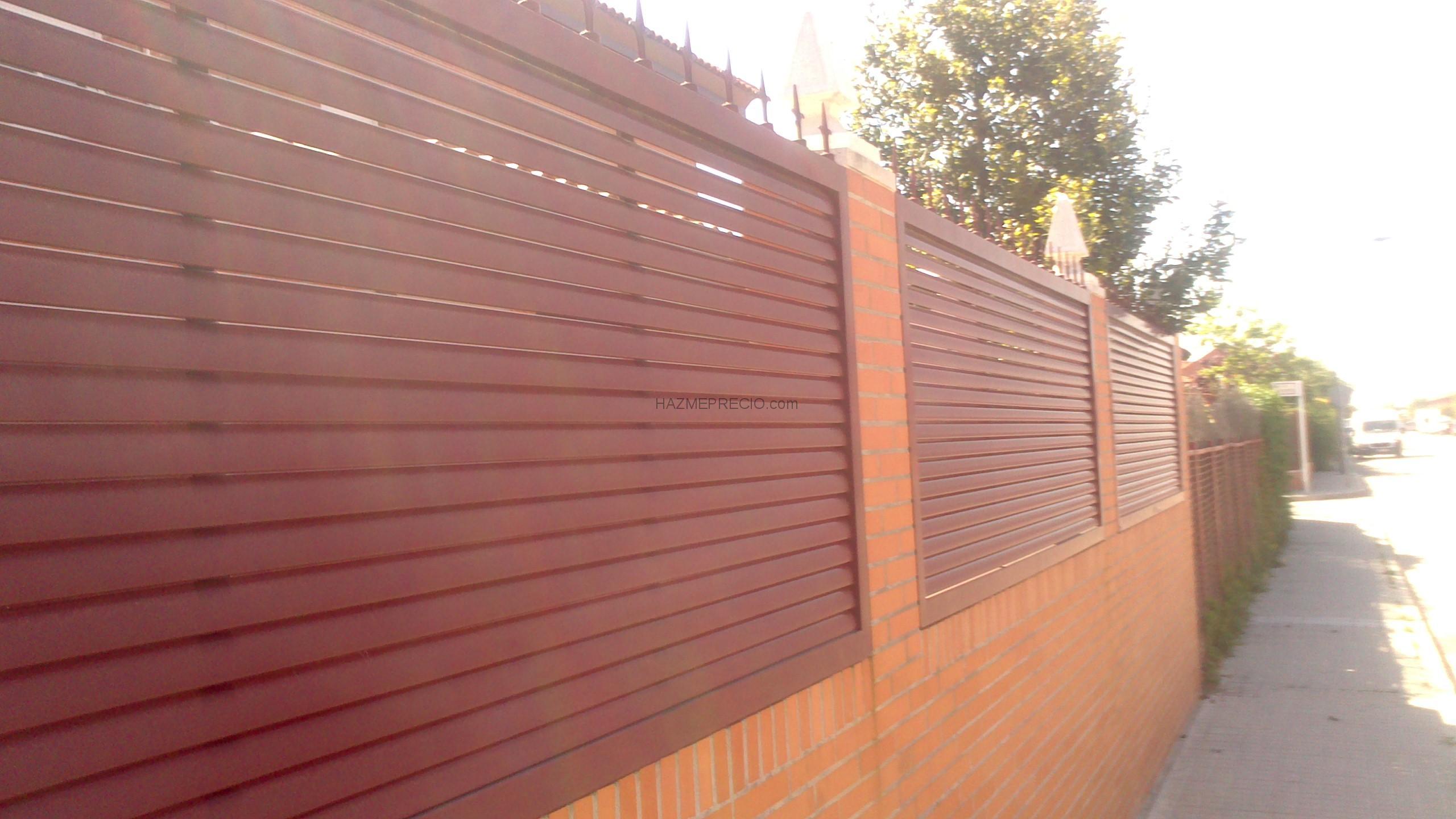 Presupuesto para hacer cerramiento metalico de lamas - Cerramientos de parcelas ...