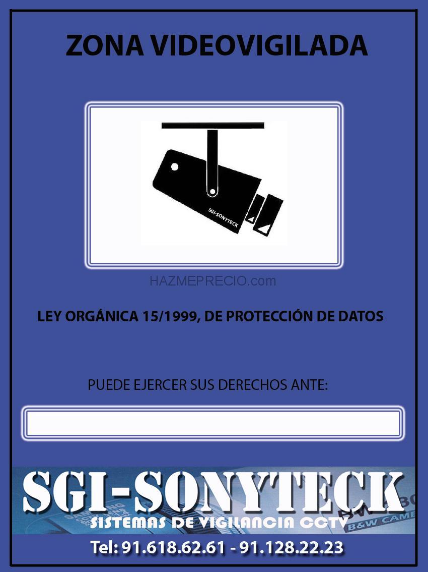 Sgi seguris 28939 arroyomolinos madrid - Cartel de videovigilancia ...