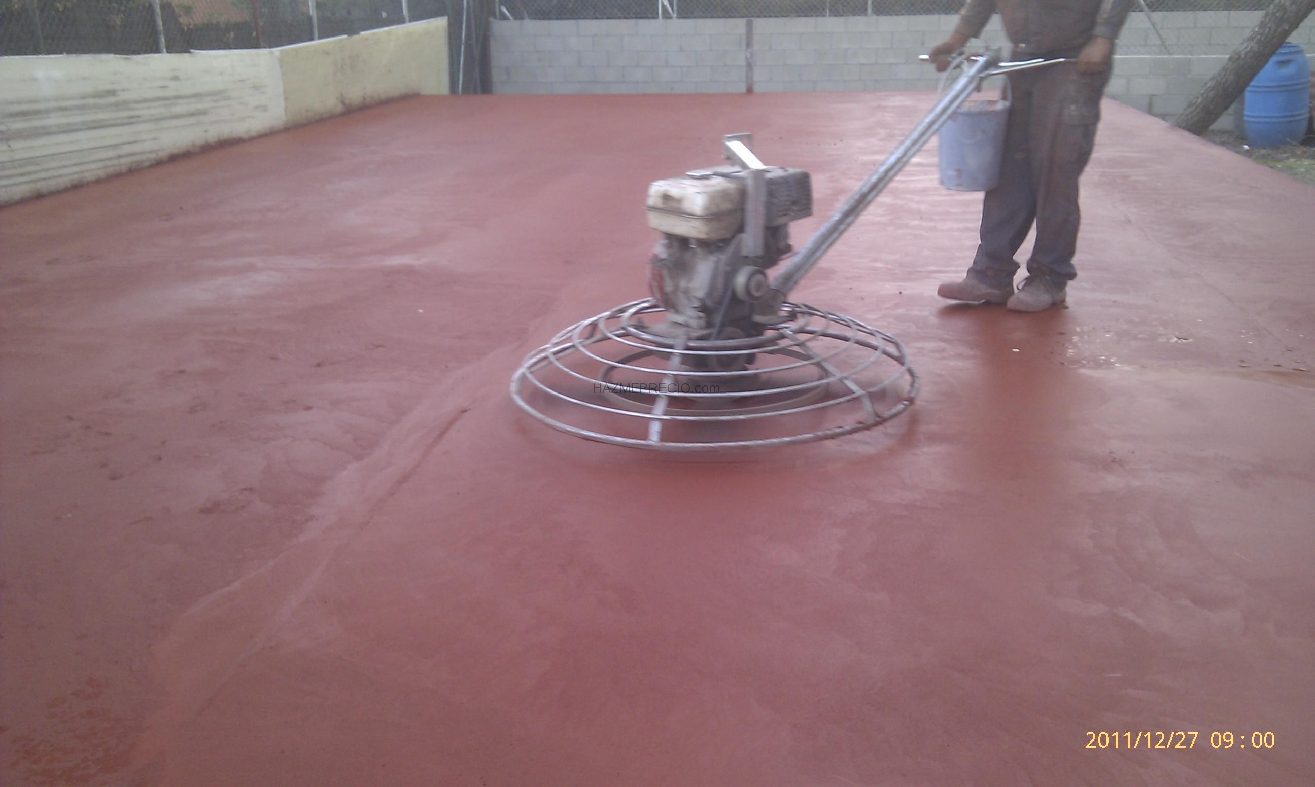 Presupuesto para poner suelo de alrededor de una piscina - Hormigon pulido colores ...
