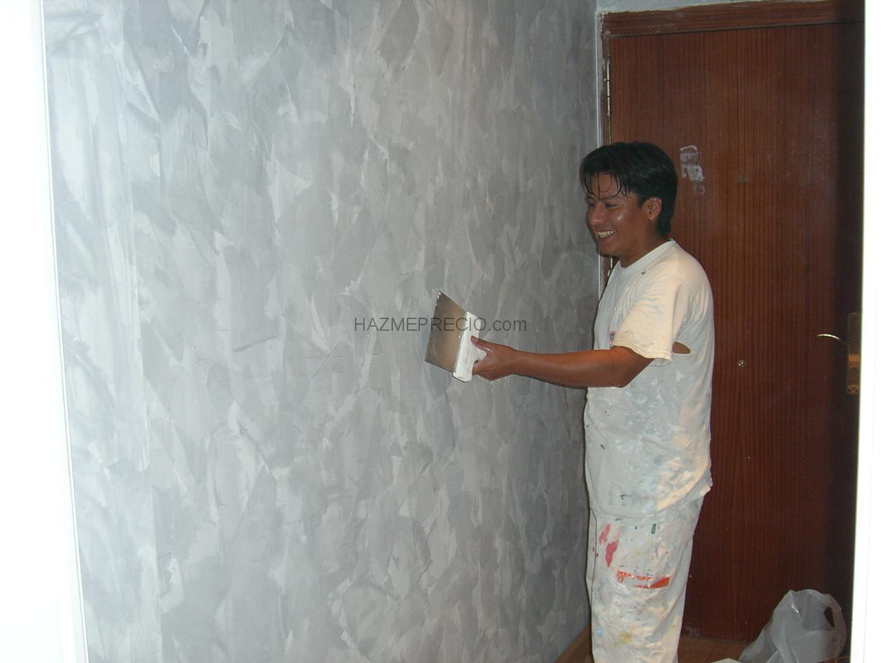 Presupuesto para quitar gotele alisar paredes y pintar en for Quitar gotele precio