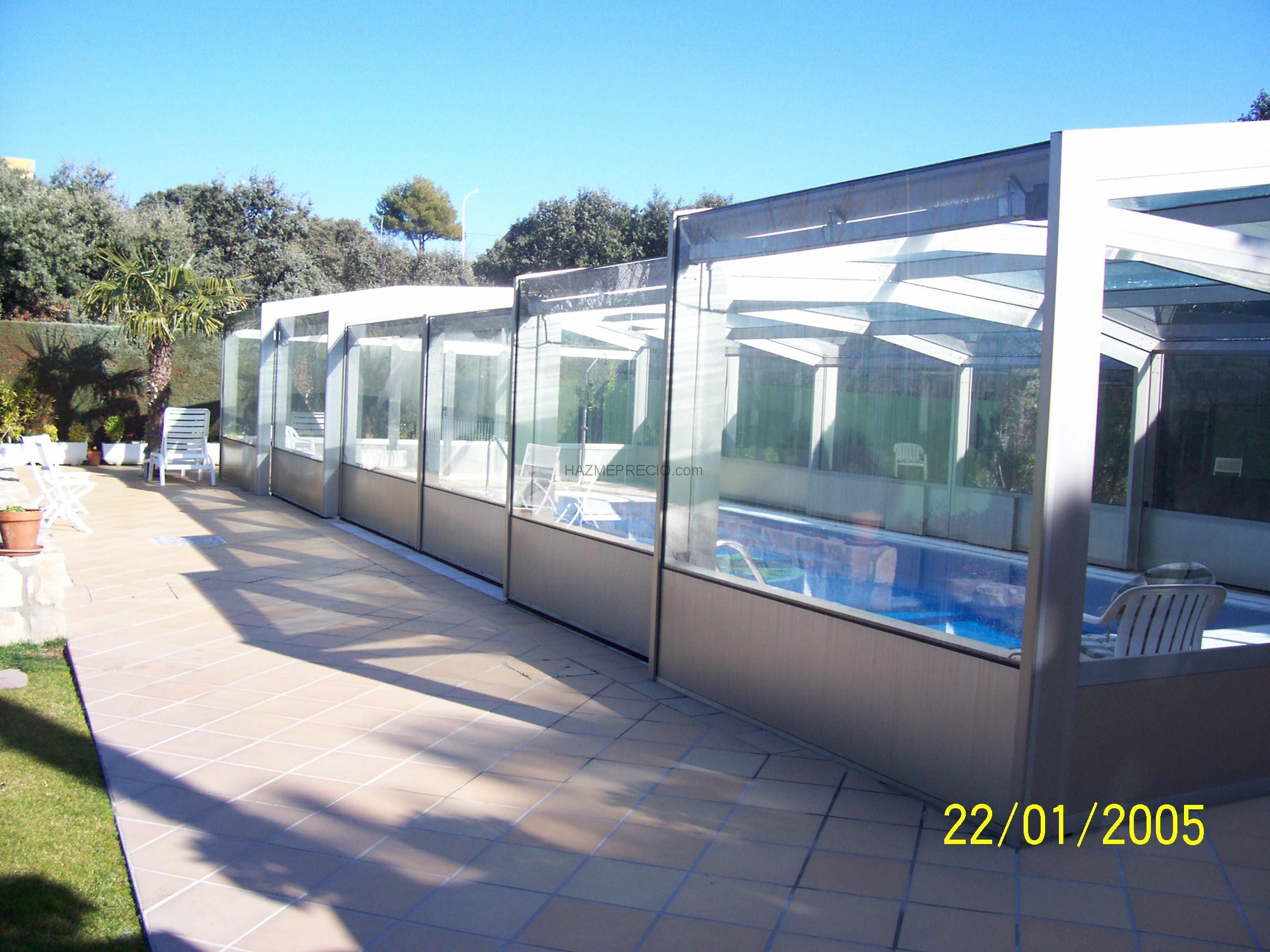 Presupuesto para cerramiento terraza en cortina de cristal for Piscina navalcarnero