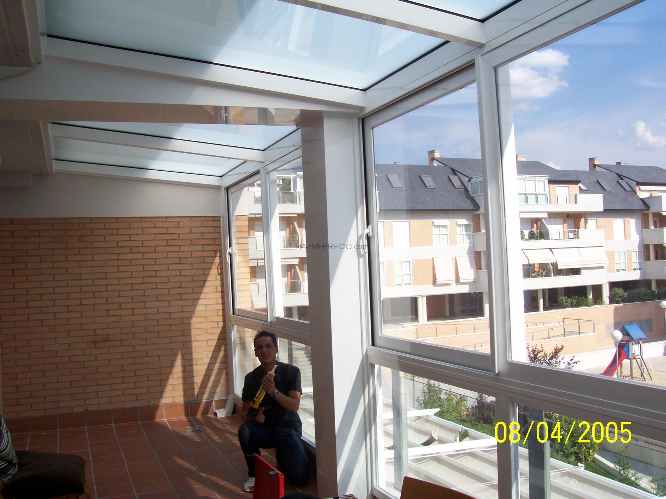 Cerrar terraza atico cheap cerramiento de pvc en una - Cerrar terraza aluminio ...