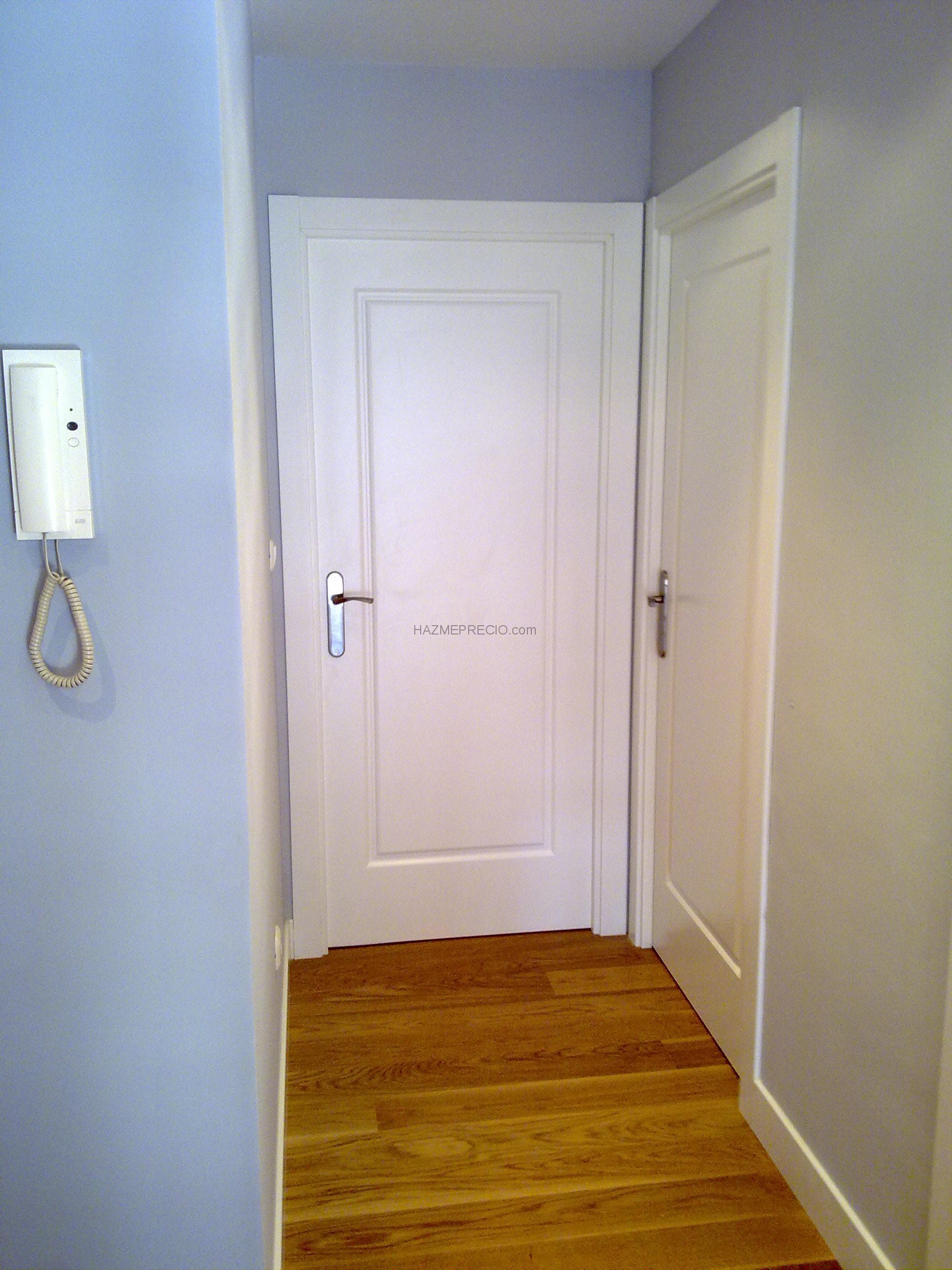 Como Lacar Puertas En Blanco Entrada De Casa Antes De Lacar  ~ Pintar Puertas De Blanco Precio