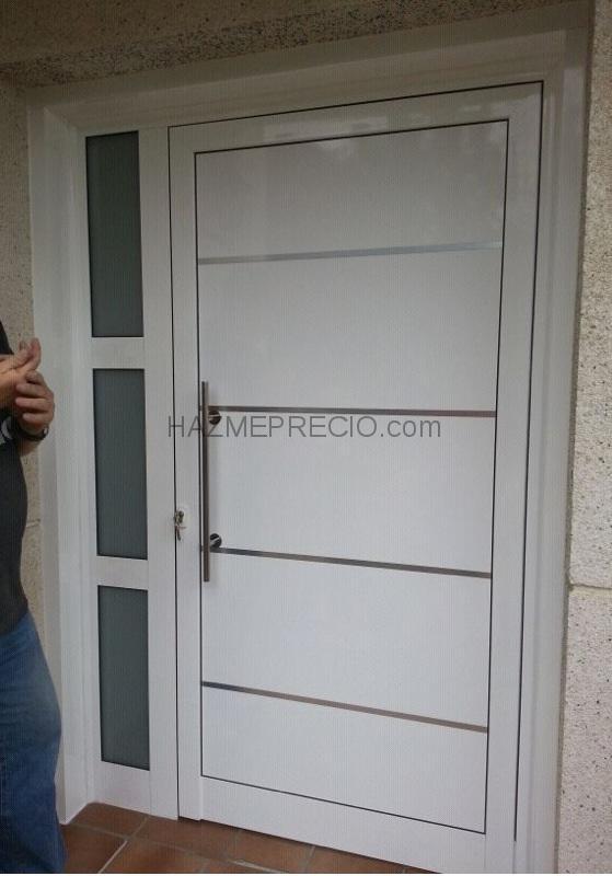 Presupuesto para puerta aluminio blanco con vidrio opaco for Puertas de calle aluminio precios