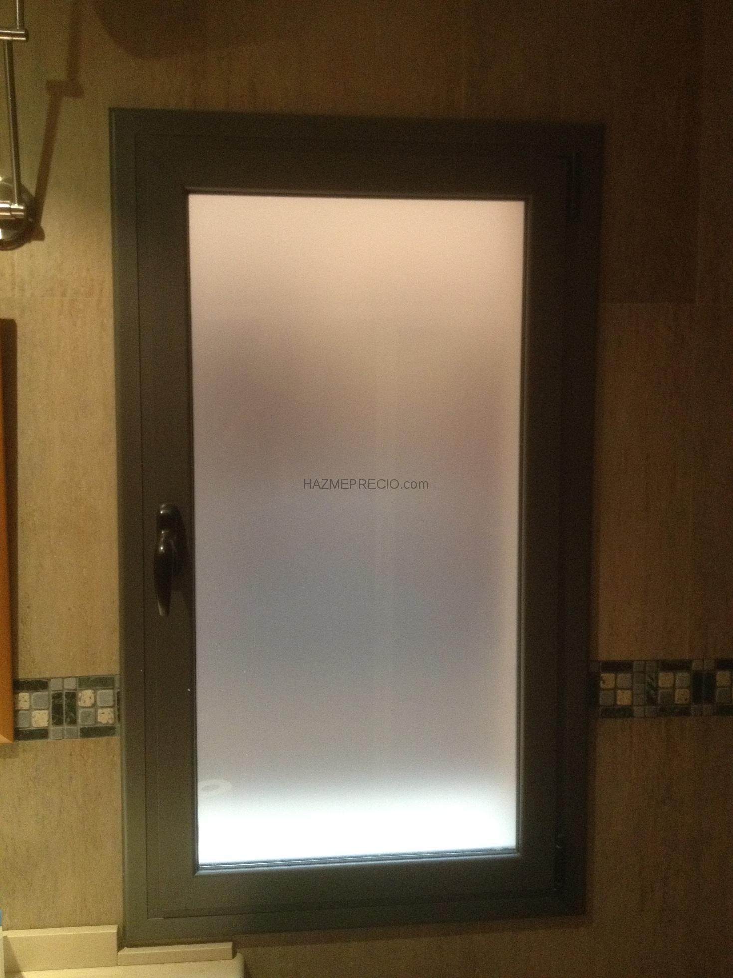 Presupuesto para puerta aluminio blanco con vidrio opaco for Puertas blancas con vidrio
