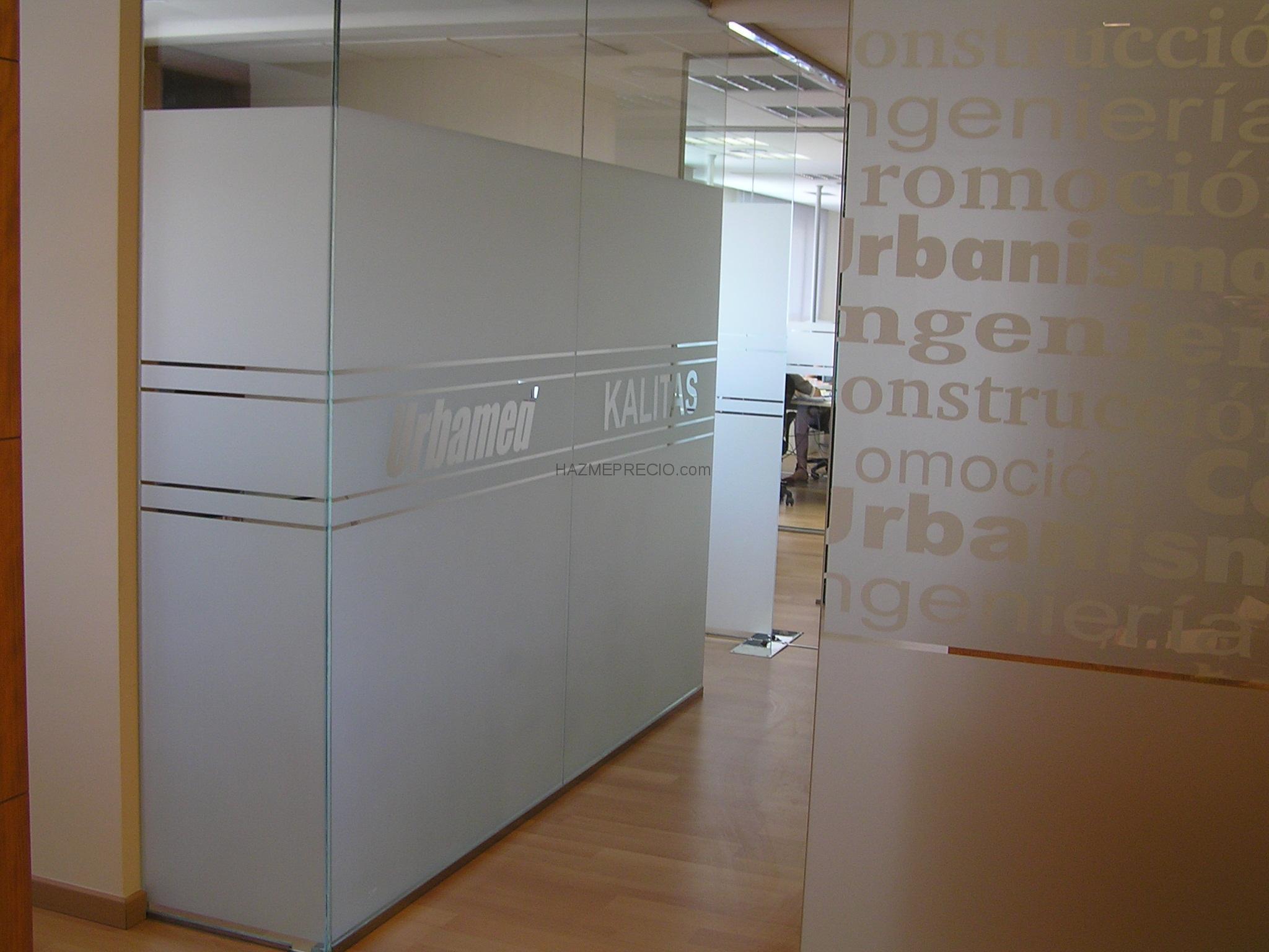 Empresas de marketing y publicidad - Cristal con vinilo ...