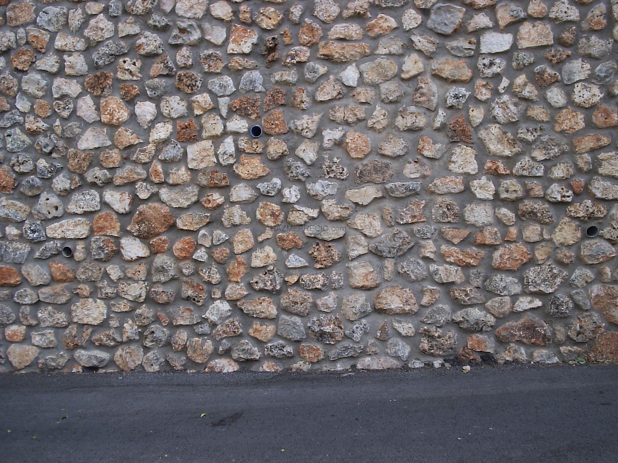 Muro de contencion de mamposteria de piedra en dibujo de - Muros de piedra ...