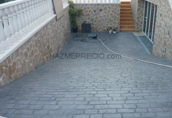Presupuesto para solar suelo y rampa de garaje en hormig n for Cemento impreso madrid