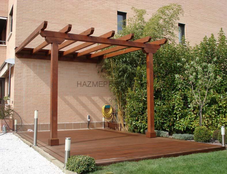 P rgola de madera numero de postes si ser n suficientes y - Postes de madera para pergolas ...