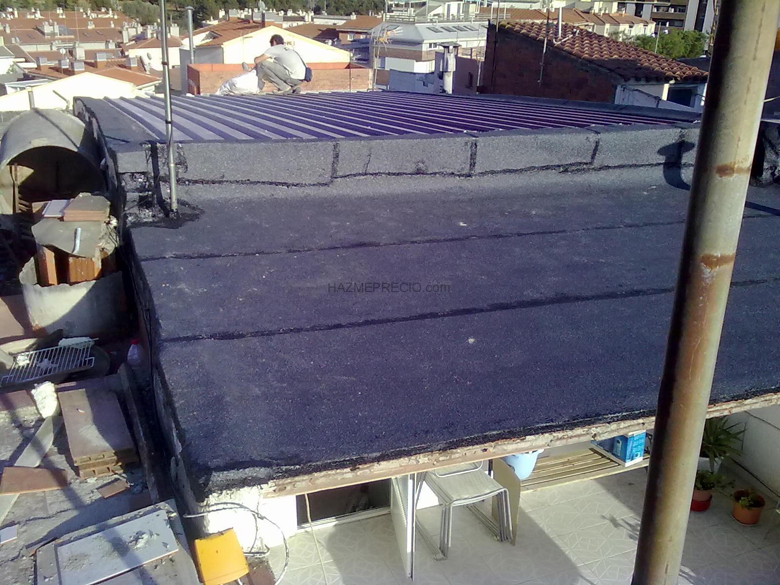 Rehabilitacion de cubierta terrassa barcelona - Tela asfaltica pizarra ...