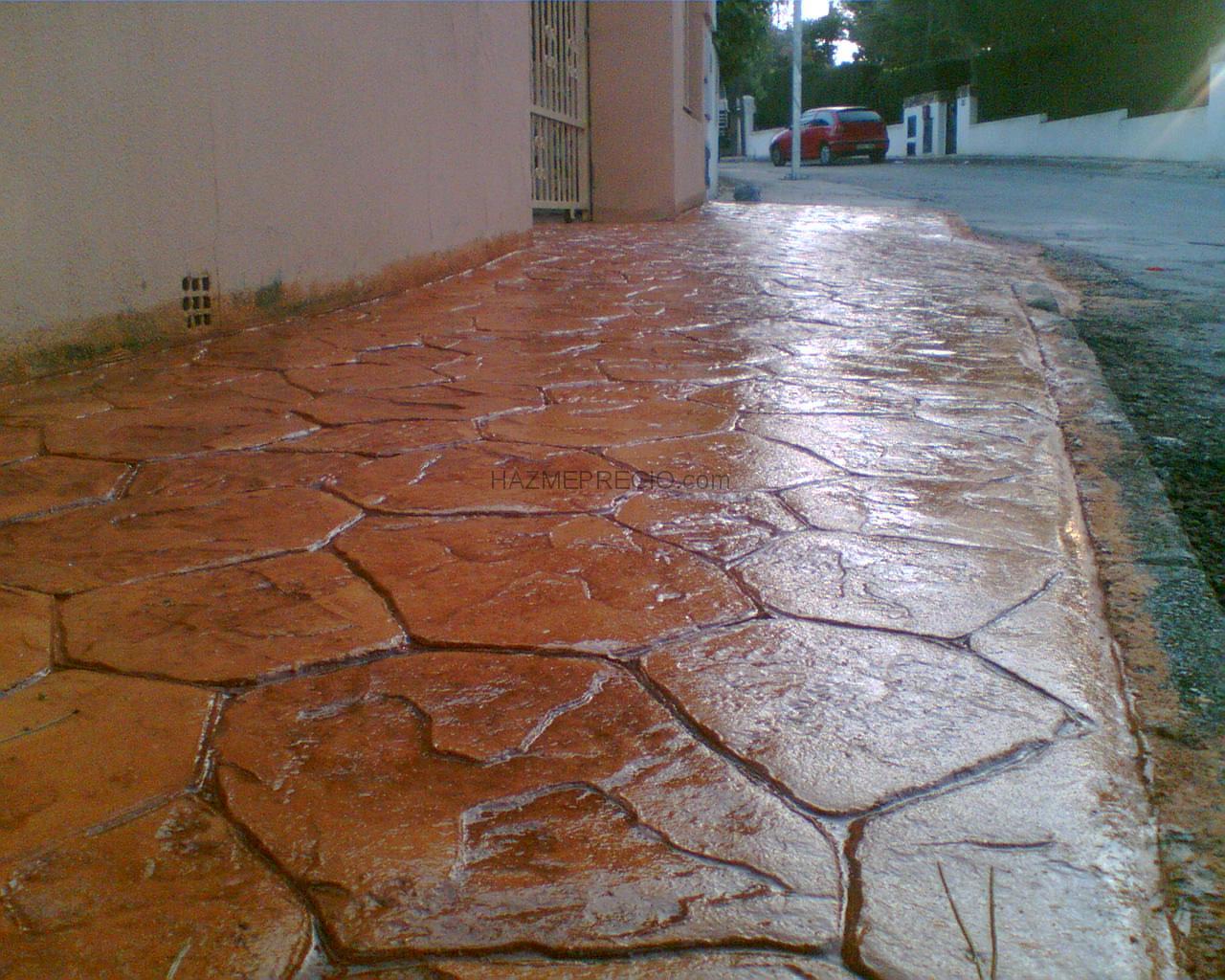 Pavimentos de hormigon impreso y pulido reformas muros for Pavimentos de hormigon