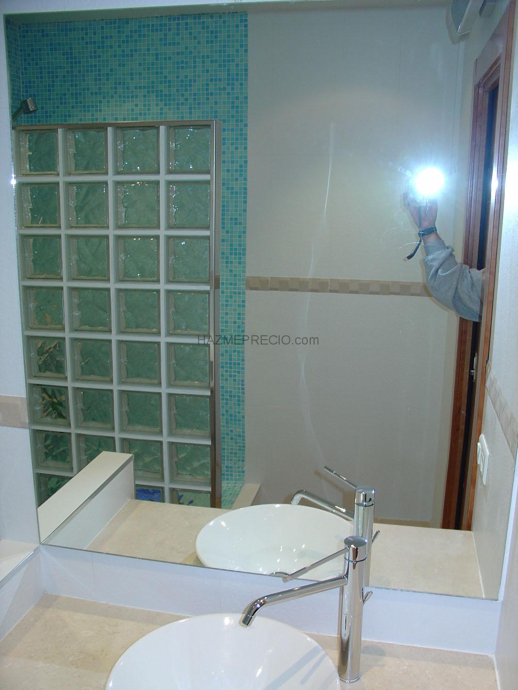 Baño Con Inodoro Separado:proyecta con una ducha de obra amplia, un inodoro y una encimera con