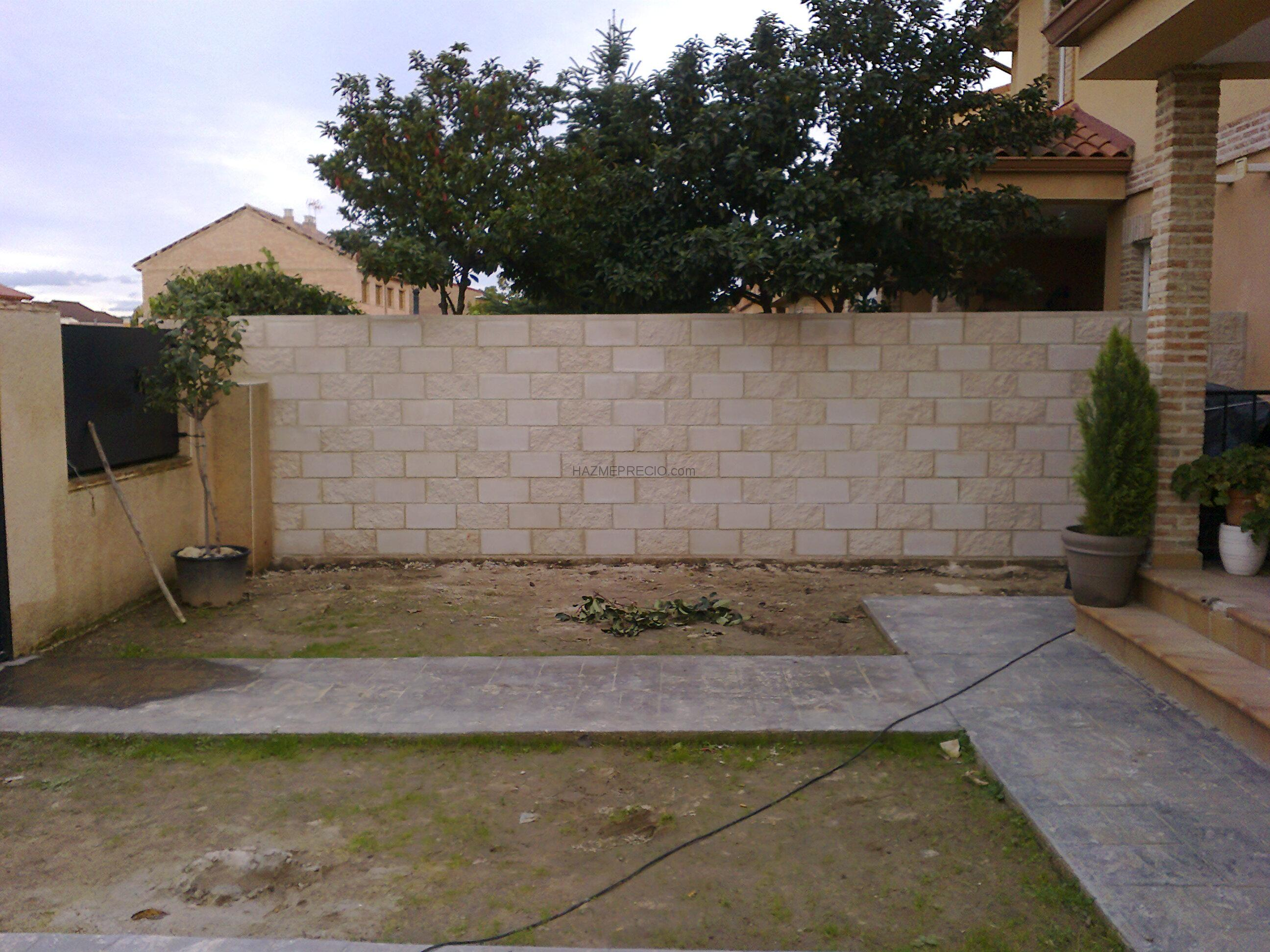 Muro de bloques de hormigon cara vista en alcal de - Muro de bloques ...