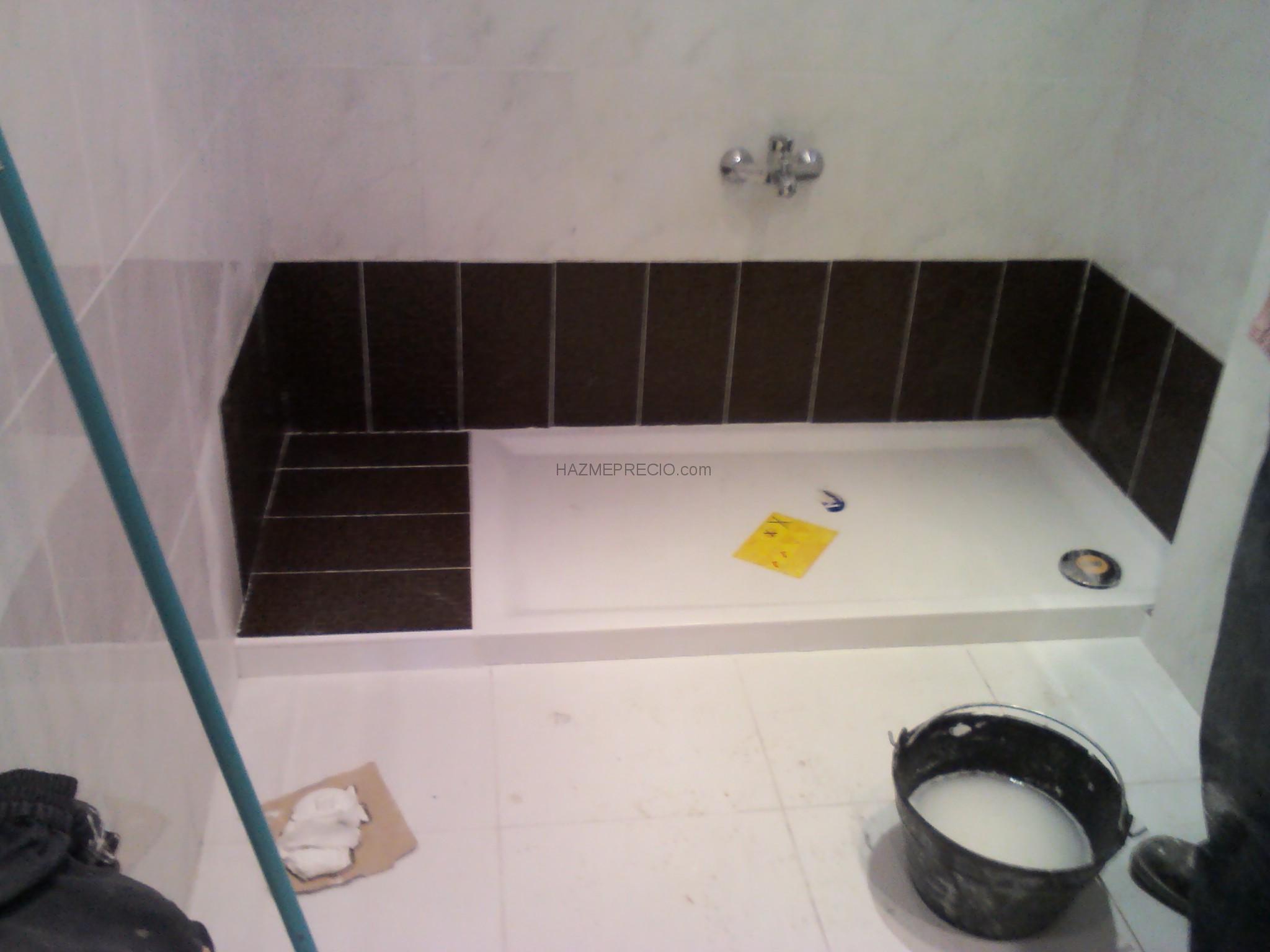 Azulejos Baño Santander:cambio a plato de ducha