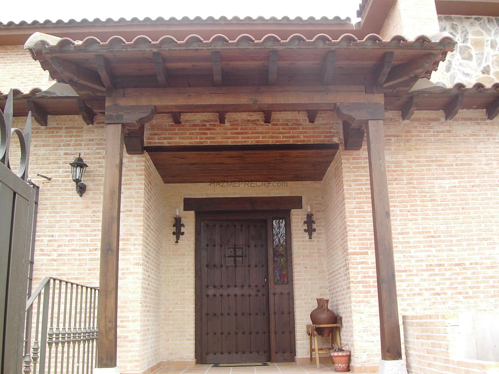 Rehabilitaci n de aleros y porches en chalet independiente - Porche entrada vivienda ...