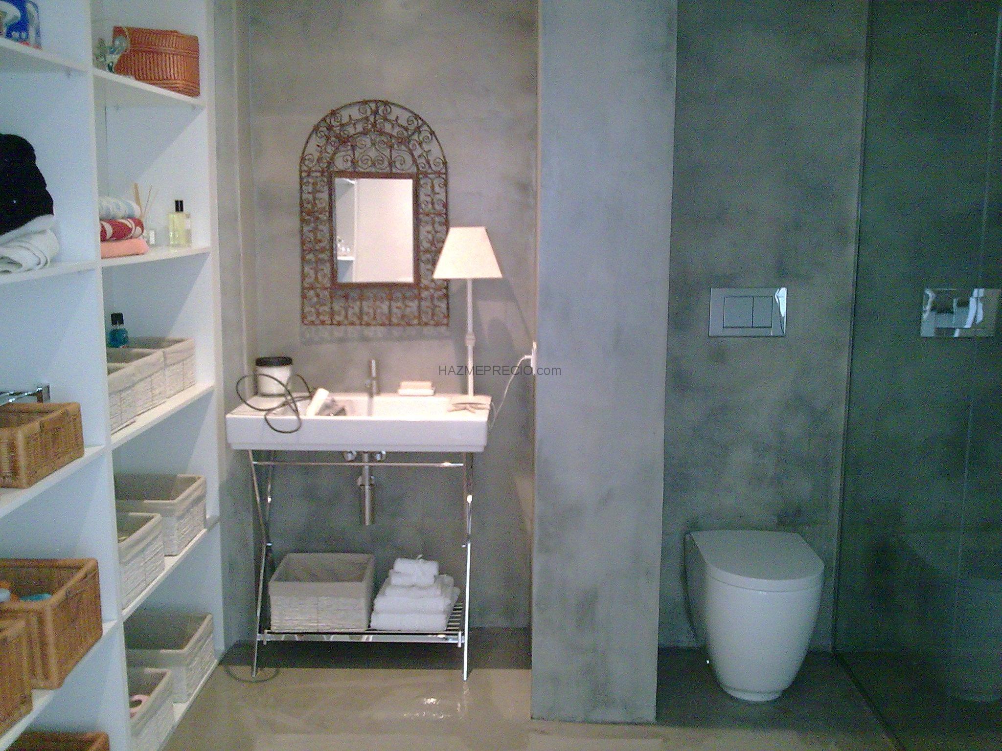 Cuartos De Baño En Microcemento:Microcemento en baños en Catarroja:microcemento en color gris cemento