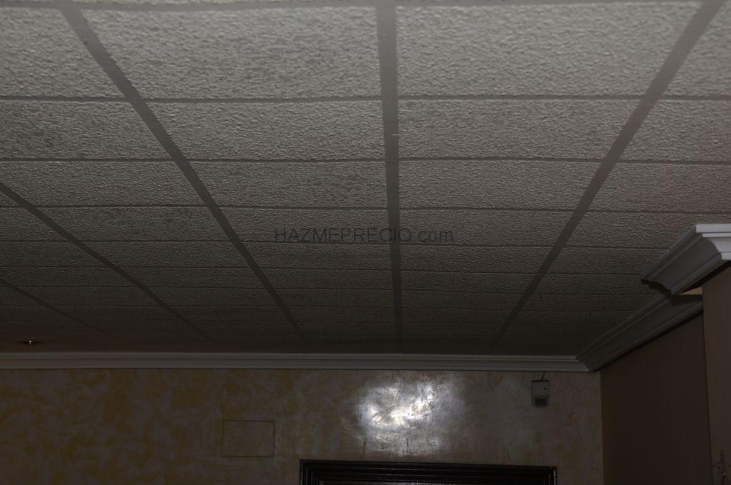 Colocacion de moldura de escayola y pintura en vivienda for Falso techo decorativo en escayola