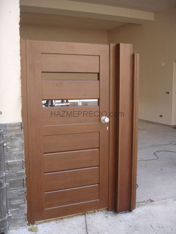 Puertas de entrada de aluminio mejor conjunto de frases for Puerta entrada aluminio
