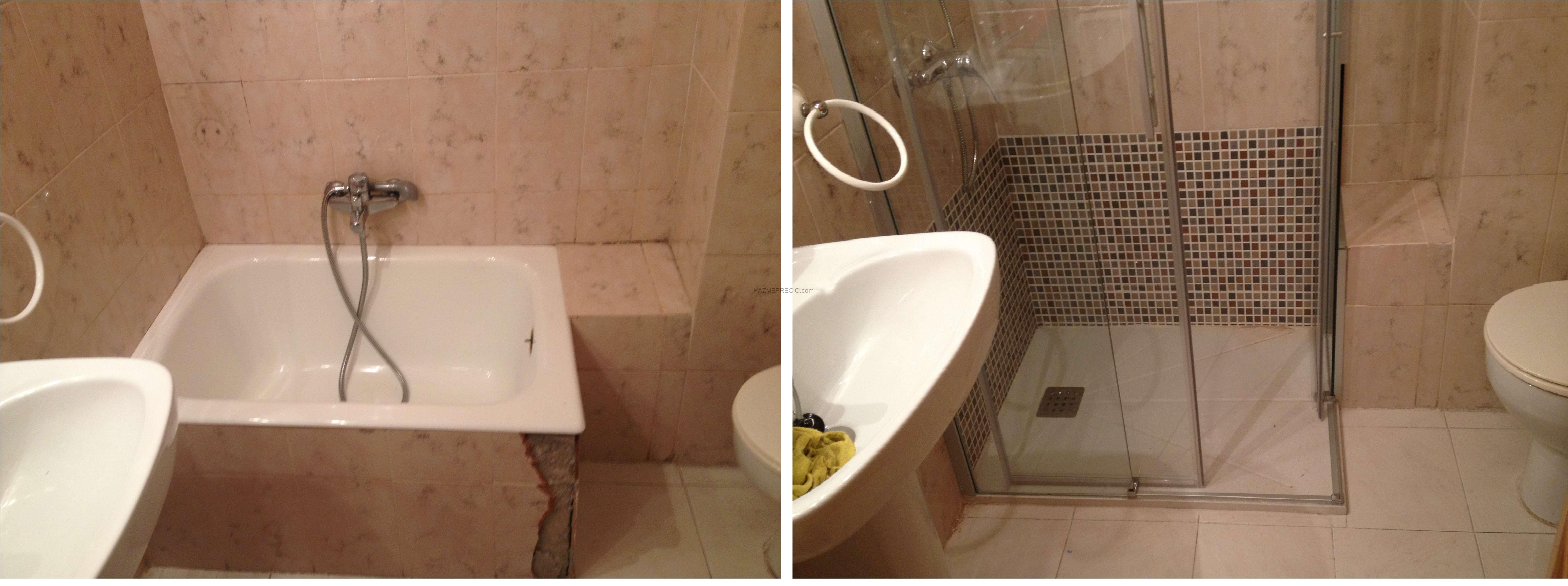 Cambio de ba era por un plato de ducha en laracha a - Cambio plato de ducha por banera ...