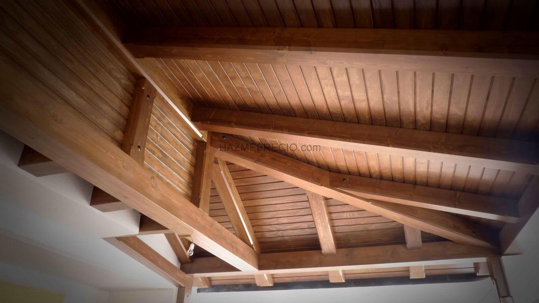 Presupuesto para suministrar m2 colocaci n de cerramientos - Tejado madera ...