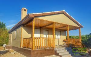 Construcción de casa de madera 104 m2