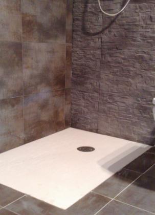 Cambio de bañera x plato ducha , mampara , tuberias etc .....( baño ejecutado en Bilbao )
