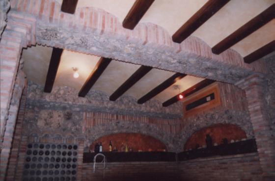 Essuyables en techo, barnizado jacenas