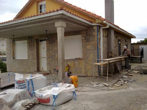 Fachadas en piedra de silleria , mamposteria , irregular etc ...