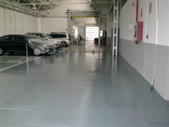Pintado especial de suelos de talleres y garages