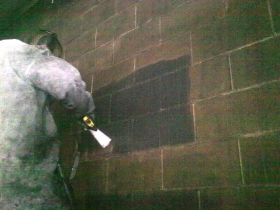 Limpieza de incendios, paredes, techos  y maquinaria afectada en seco