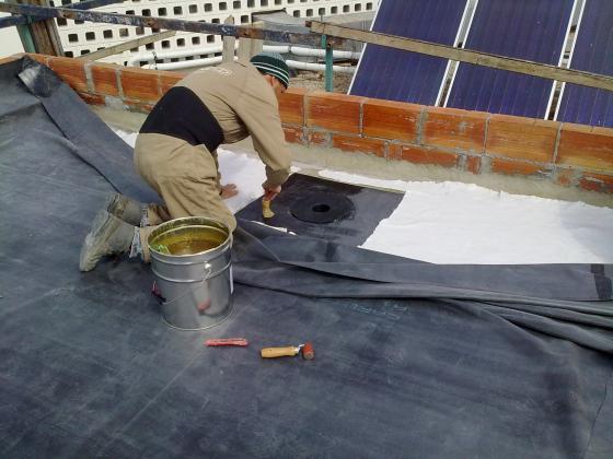 Impermeabilización de terraza con Lamina de caucho EPDM
