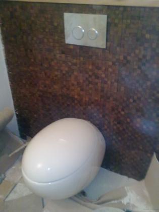 Instalacion de sistema suspendido para inodoro