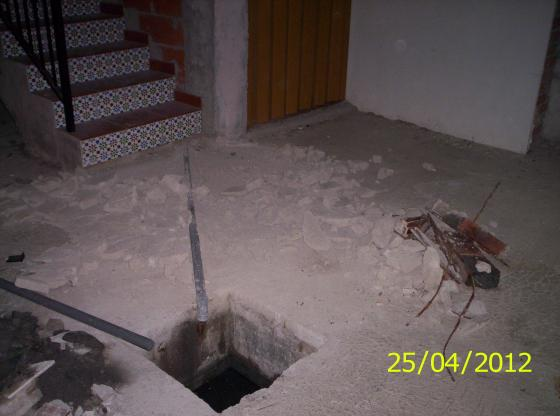 Soterrado de tuberías de desagüe