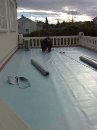 Impermeabilización terraza en pvc, tambien trabajamos epdm y telas asfalticas.