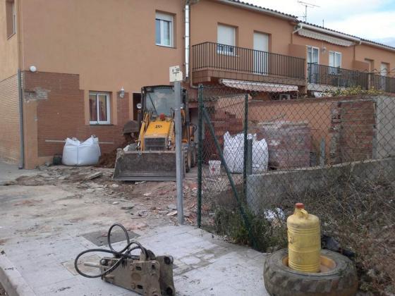 derribo terraza vivienda unifamiliar en figueres