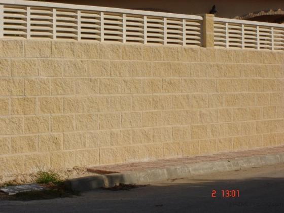muro bloque ormigon