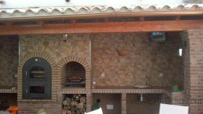 barbacoa en terraza de atico