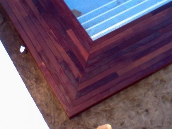 istalacion de piscina con tarima de exterior de ipe (Malaga)