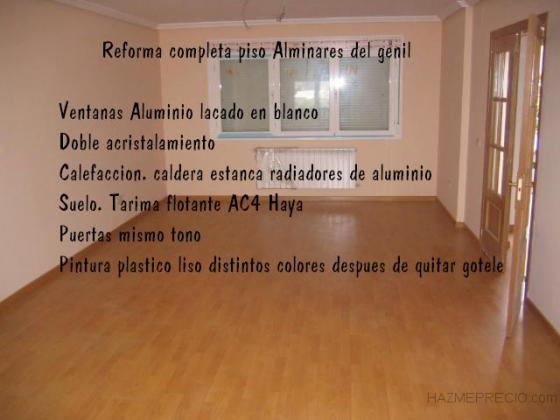Reforma integral  piso alminares