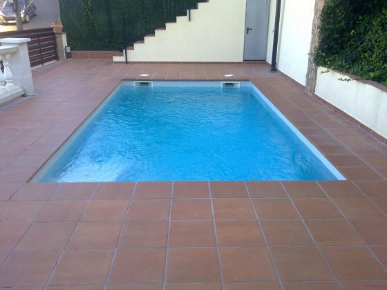 piscinas de obra con gresite