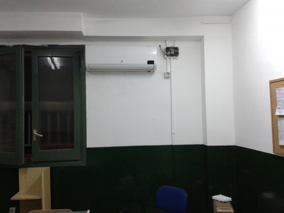 instalacion split mural pared con pared con luping para buen funcionamiento de la misma