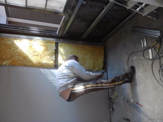 montaje de pladur en terasa cerada
