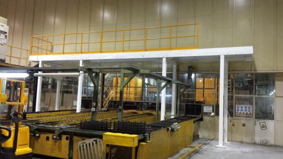 Plataforma estructural de 12500 de largo x 4200de altura para ubicación de equipos eléctricos