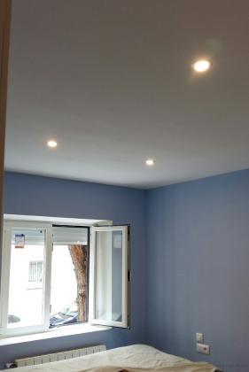 Alisado paredes y techo pladur. cambio ventana