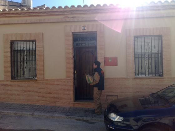 fachada y alero en ladrillo rustico