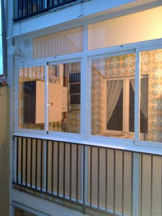 cerramiento galeria en patio  interior