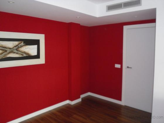 Pintura roja pared